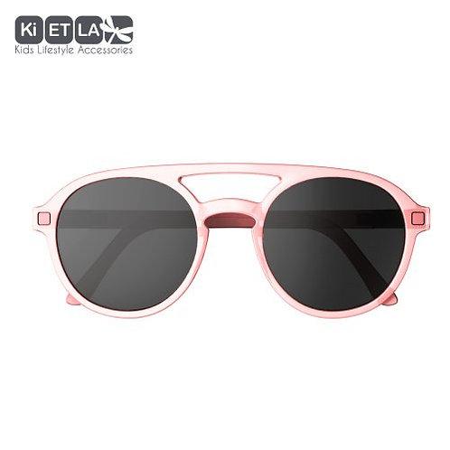 Slnečné okuliare KiETLA CraZyg-Zag ružové pilotky 9-12 rokov