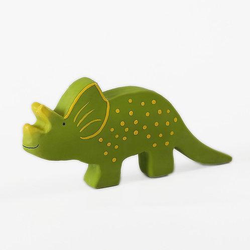 Tikiri Baby dinosaurus z prírodnej gumy Triceratops (Trice)