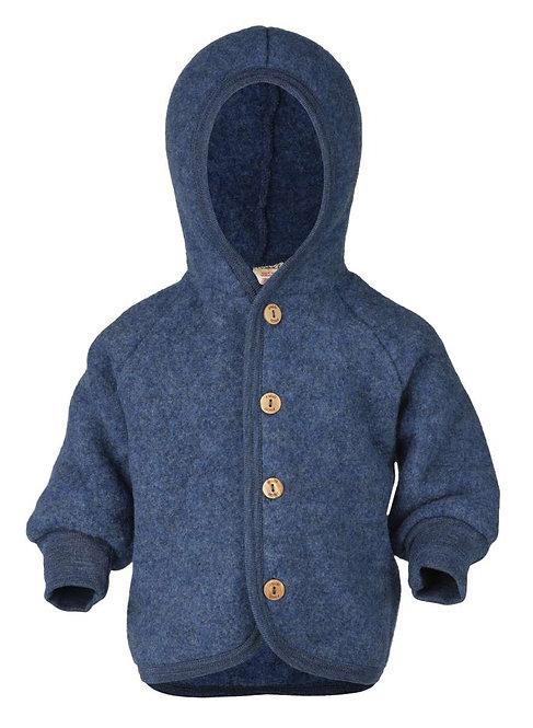 ENGEL kabátik z merino vlny modrý 50/56
