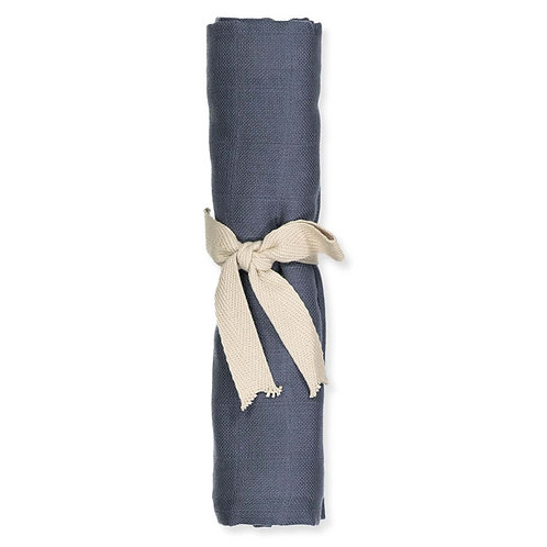 Mušelínová plienka z organickej bavlny Filibabba – tmavo modrá