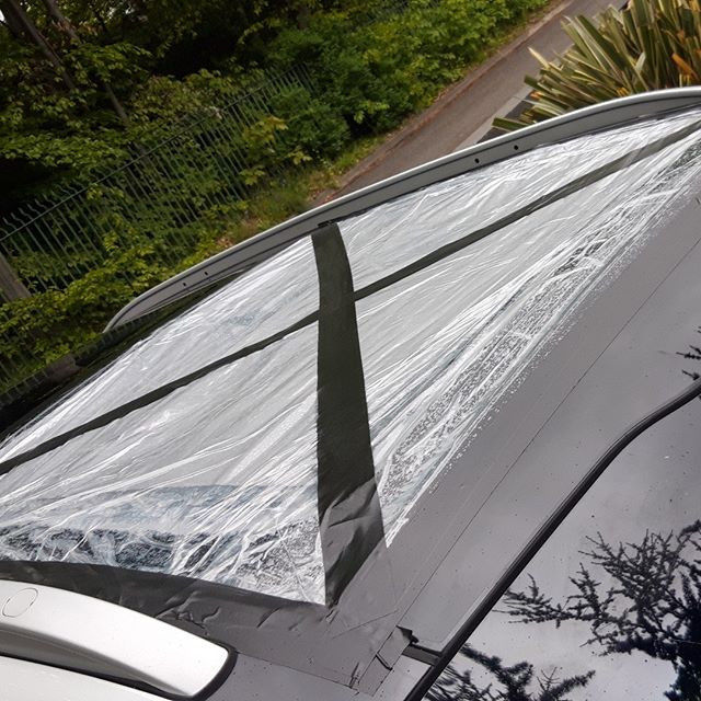 Sunroof,  no problem for #toughcarglass.