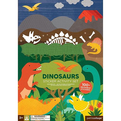 PetitCollage kreatívne samolepky Dinosauri