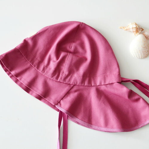 Predĺžený klobúk PickaPooh ružový UV ochranou 40