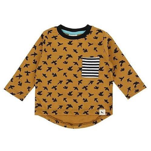 Tričko s dlhým rukávom Turtledove London vtáčiky 0-6m (posledný kus)