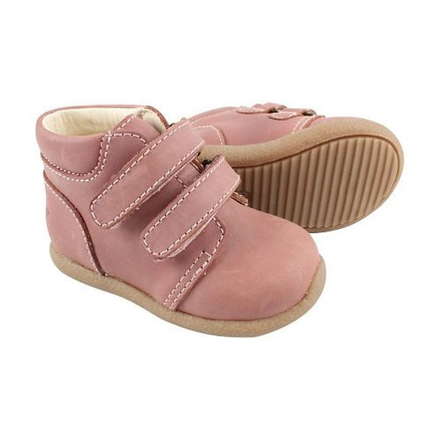Kožené topánky na prvé chodenie En*Fant ružové