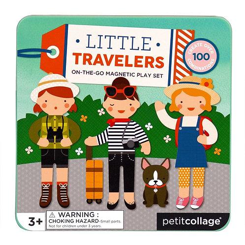 PetitCollage Magnetická knižka Malí cestovatelia