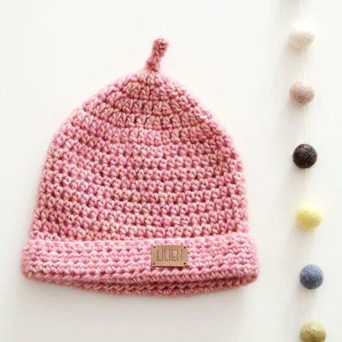 Handmade by Lilien pletená čiapka 6-12m
