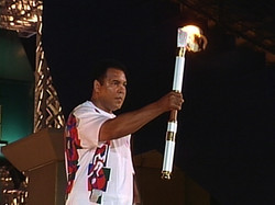 Muhammad Ali Lights Olympic Flame