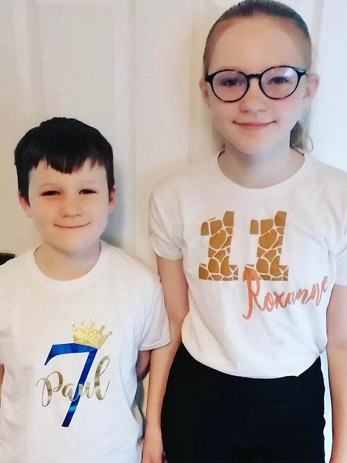 Birthday T-shirt's