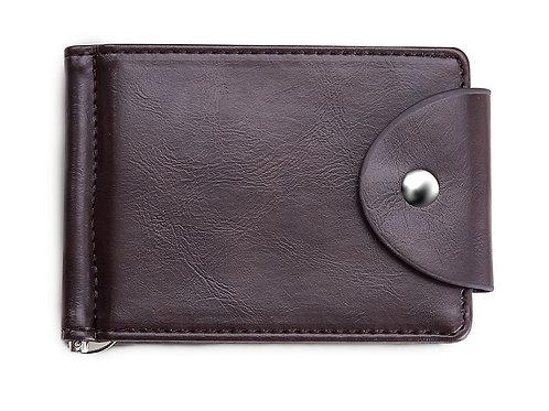 Slim wallet with clip