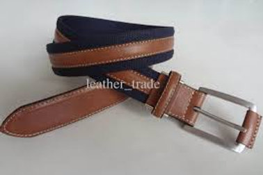 Cotton and Leather Belt