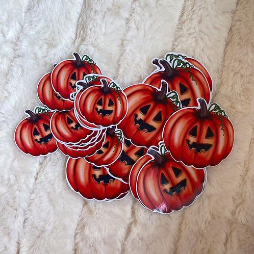 Small/Large Dexter Pumpkin Stickers