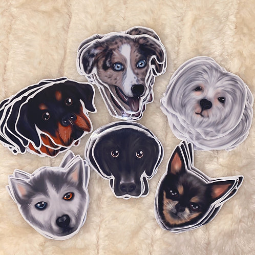 The Creepy Paintbox: Dogs Stickers