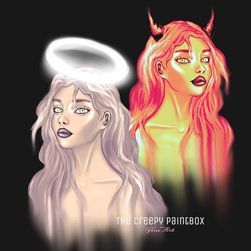 Angel Devil iPhone Wallpaper