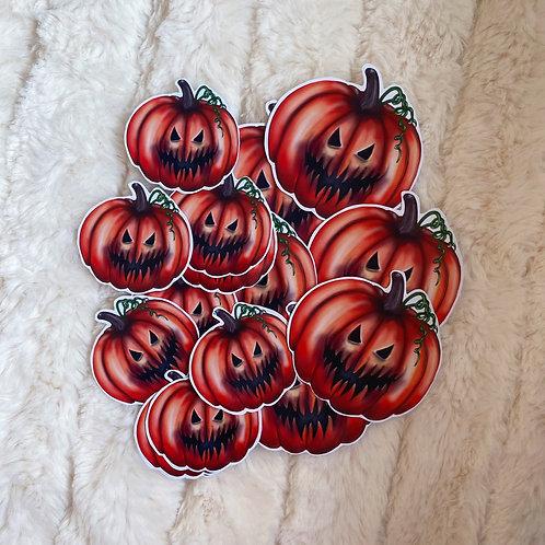 Small/Large Evil Pumpkin Stickers