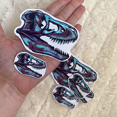 Small/Large T-Rex Skull Stickers
