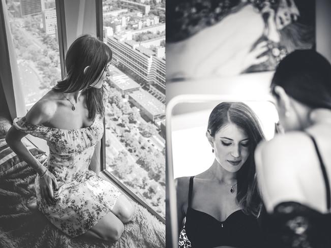 Sensualna sesja kobieca w apartamencie Sky Tower