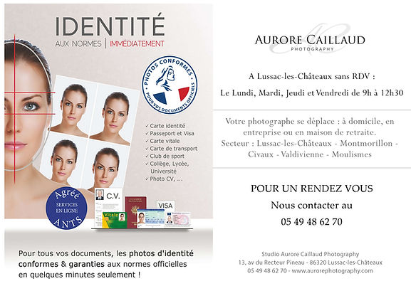 photo identité pour documents officiels - Montmorillon, lussac-les-châteaux, l'Isle Jourdain, Chauvigny