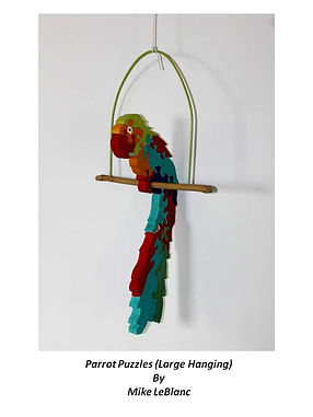 Large Parrot Puzzle on Perch