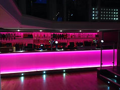 Bar colour changing LED lighting