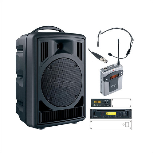50W Portable Music & PA System, Headset Microphone
