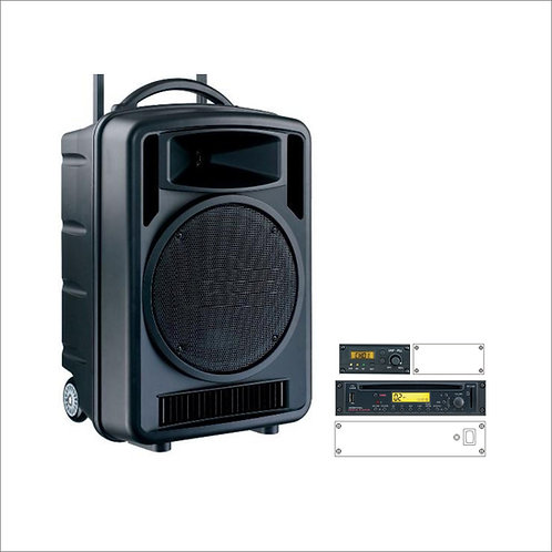 100w Portable CD Music & PA System with Wireless Receiver