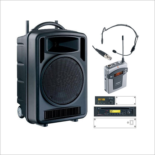 100w Portable Music & PA System with Headset Microphone