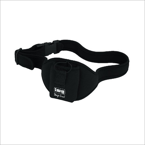 Pounch belt for radio microphone bodypack transmitter
