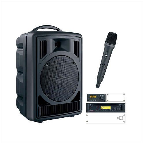 50W Portable Sound System With Handheld Microphone