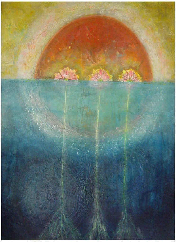 Triple Lotus~by Carol Wiebe
