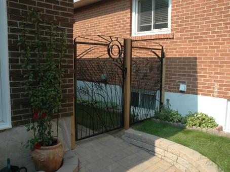 A Custom Designed Gate Celebrates Our Prairie Roots