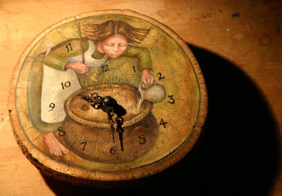 The Perfumier. Clock by Rima Staines. Used with permission.