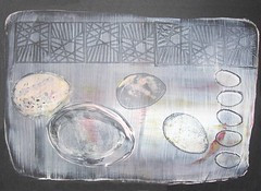 Gelatin Plate Printing with Eggs on my Mind