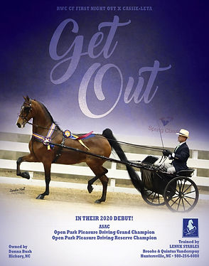 Get Out trained by Brooke and Quintus Vanderspuy