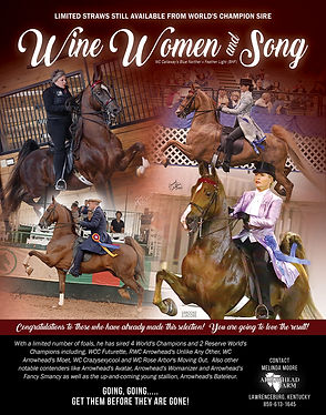 Arrowhead Wine Women and Song trained by Melinda Moore