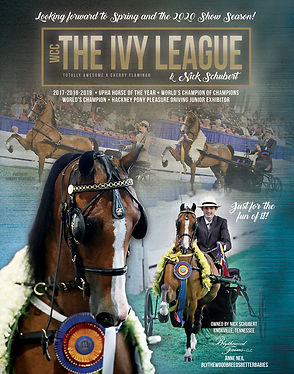 The Ivy League driven by Nick Schubert and trained by Blythewood Farms