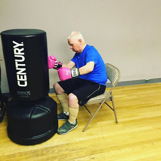Everyone can box and get benefits from it! Lin loves to jab and punch and Beat PD!_#parkinson's