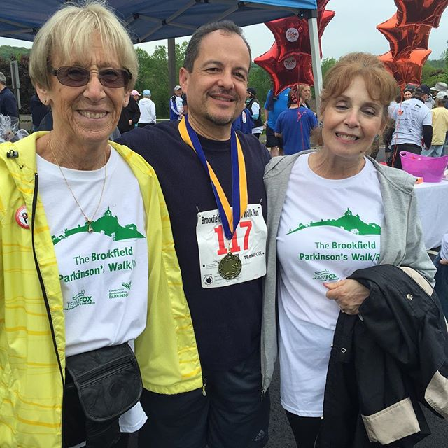 Beat PD Trainer George Raymond win first place in his age division in the Brookfield 5k for Parkinso