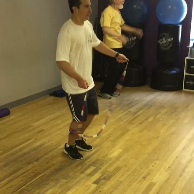 Jim jumps at class in Brookfield Beat PD class! Awesome - keep up the great work