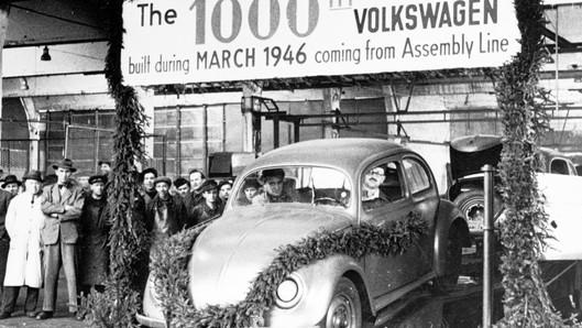 Volkswagen hồi tưởng sự khởi đầu của ủy thác của nước Anh 75 năm trước.
