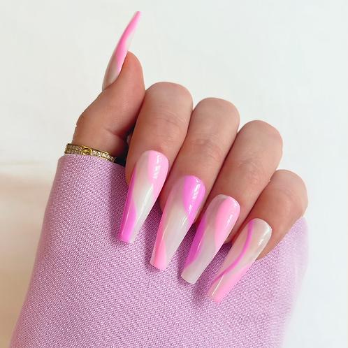 Pink and lilac swirls