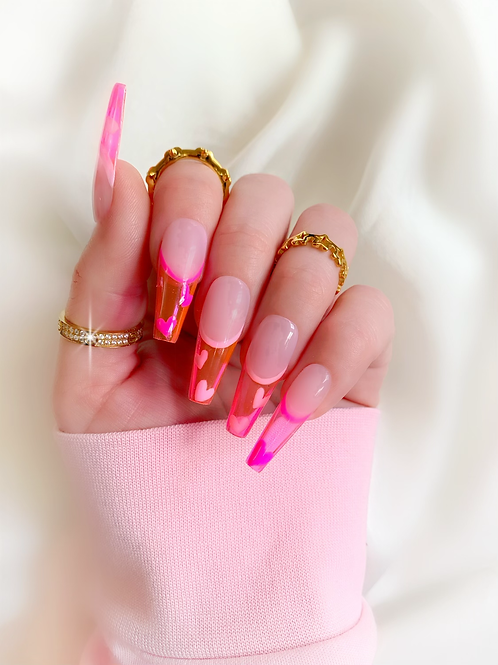 Pink glass tips