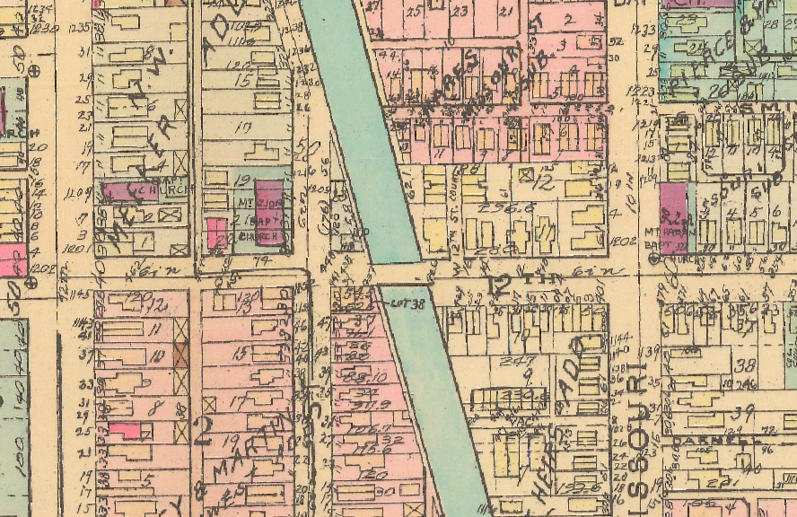 Baist map Indianapolis Central Canal African American History