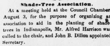 #indyturns200 Indianapolis history shade trees