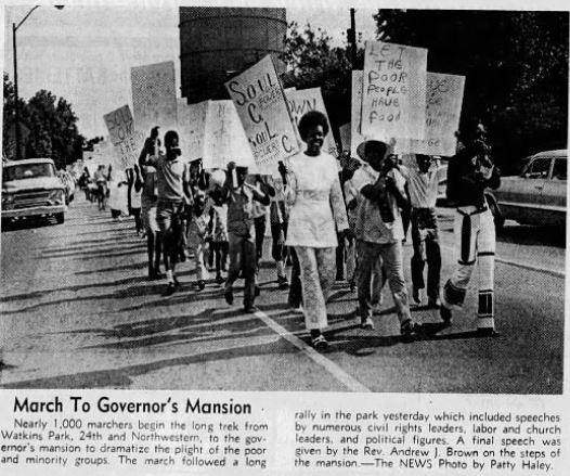 1969 anti-racism march Indianapolis history