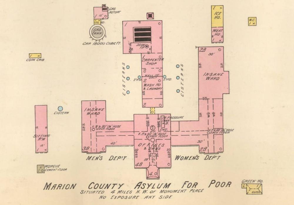 Sanborn Map Indianapolis #indyturns200 poor farm county asylum