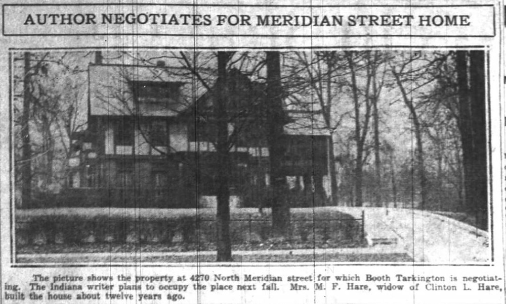 Booth Tarkington house Indianapolis history