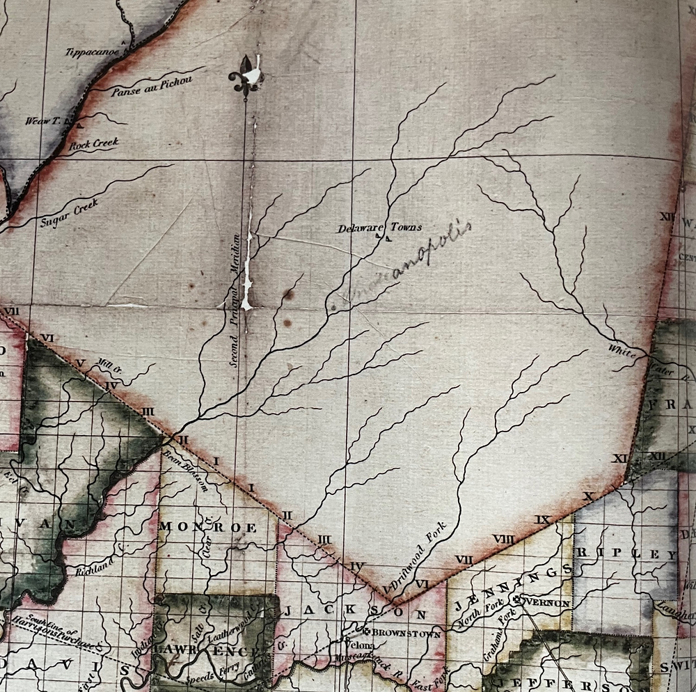 #indyturns200 old map Indiana New Purchase history of Indianapolis Treaty of St. Mary's