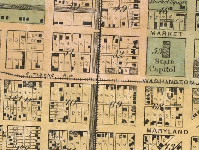 1866 indianapolis history map