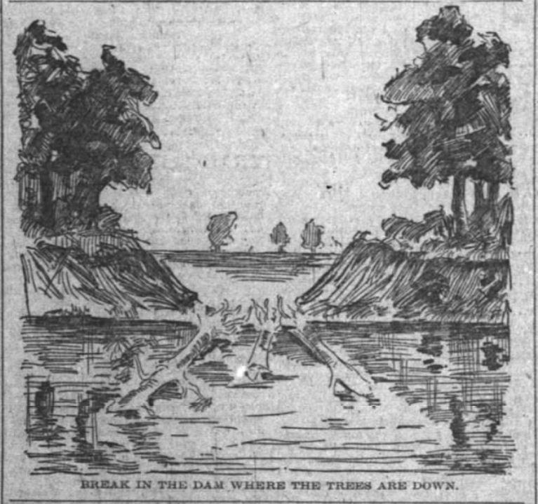 strawboard dam failure noblesville white river fish kill